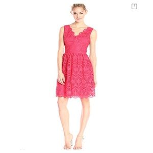 Adrianna papell v neck fit and flare dress